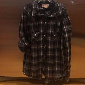 Women's small snap down shirt OP brand great cond